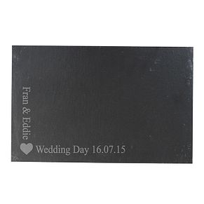 Engraved Heart Motif Slate Board - Product number 1442996