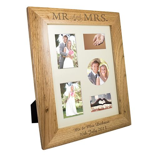 Personalised Mr And Mrs 10x8 Oak Photograph Frame - Product number 1443011
