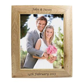 Personalised  10x8Oak Portrait Photograph Frame - Product number 1443119