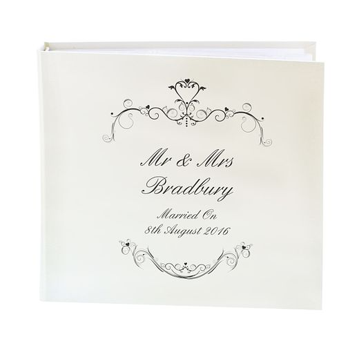 Personalised Black Ornate Swirl Photograph Album - Product number 1443194