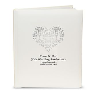 Personalised Silver Damask Heart Photograph Album - Product number 1443216