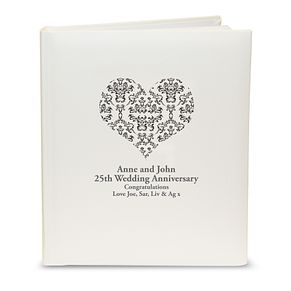 Personalised Black Damask Heart Photograph Album - Product number 1443240