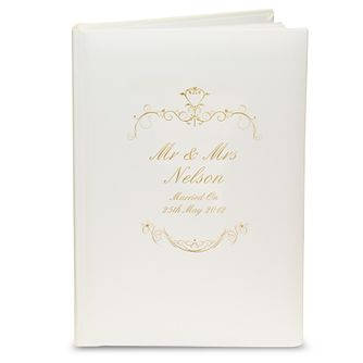 Personalised Gold Ornate Swirl Photograph Album - Product number 1443259
