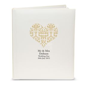 Personalised Gold Damask Heart Photograph Album - Product number 1443283