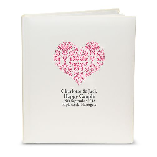 Personalised Red Damask Heart Photograph Album - Product number 1443666