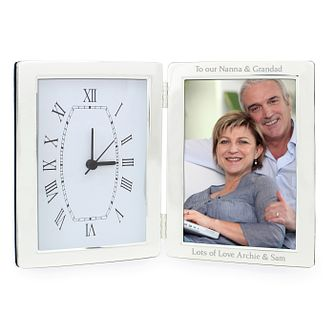 Engraved Clock And 6x4 Photograph Frame - Product number 1443763
