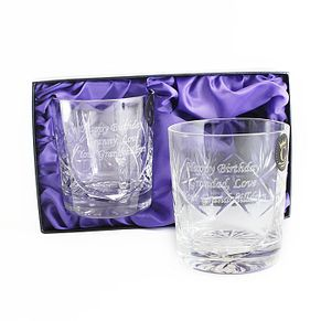 Engraved Crystal Pair of Whisky Tumblers - Product number 1443852