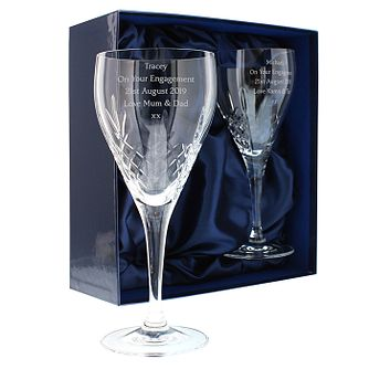 Personalised Engraved Crystal Wine Glasses Set - Product number 1443895