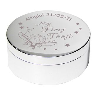 Engraved Fairy First Tooth Trinket Box - Product number 1444298