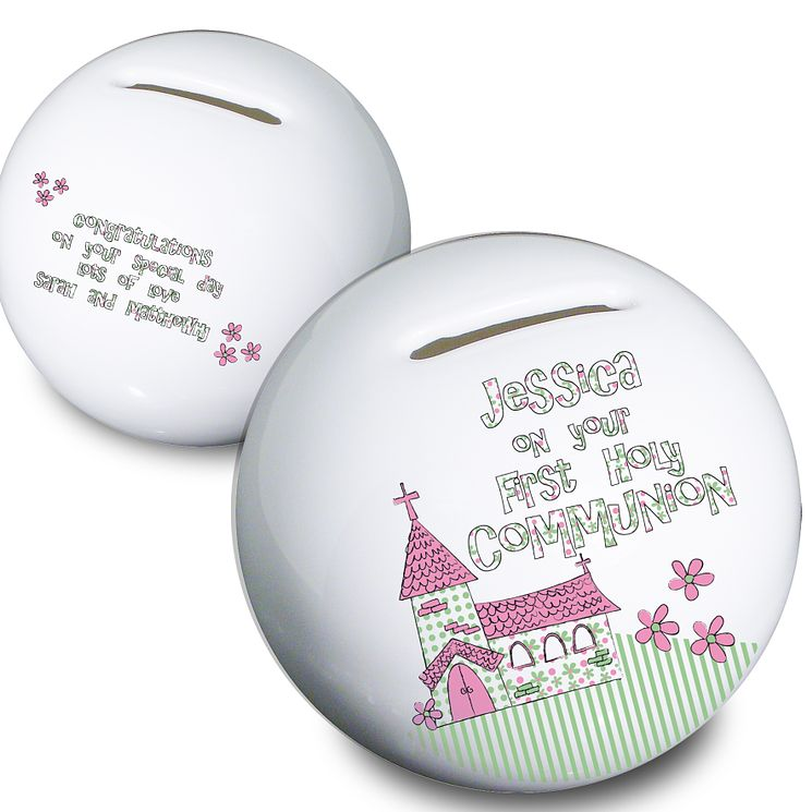 Personalised First Holy Communion Church Money Box - Product number 1444581