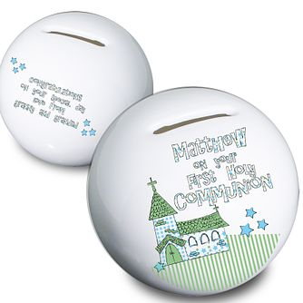 Personalised First Holy Communion Church Money Box - Product number 1444603
