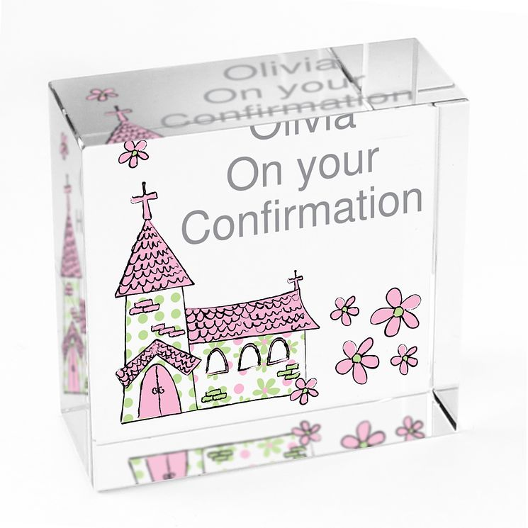 Personalised Pink Church Crystal Token - Product number 1444808