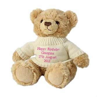Personalised Teddy Message Bear - Pink Writing - Product number 1444964