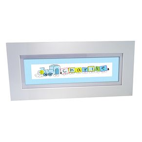 Personalised Patchwork Train Name Frame - Product number 1445227