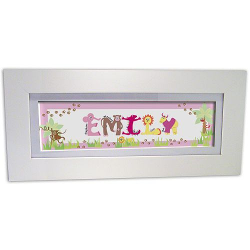 Personalised Pink Animal Name Frame - Product number 1445294