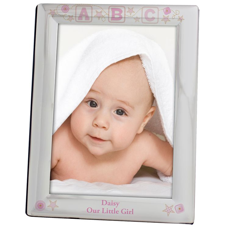Personalised Pink ABC Silver 5x7 Photo Frame - Product number 1445367