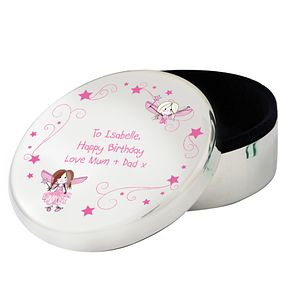Personalised Fairy Letter Round Trinket Box - Product number 1445391