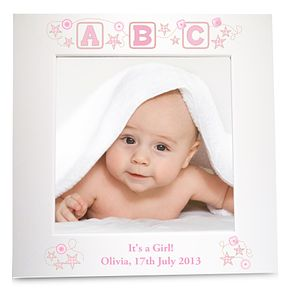 Personalised Pink ABC 6x6 White Frame - Product number 1445413