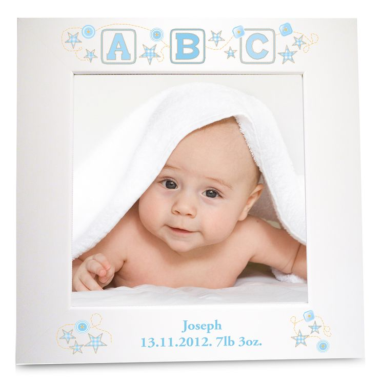 Personalised Blue ABC White 6x6 Frame - Product number 1445456