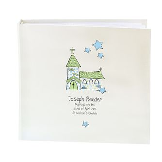 Personalised Whimsical Blue Church Photograph Album - Product number 1445731