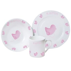 Personalised Pink Chick Breakfast Set - Product number 1445839