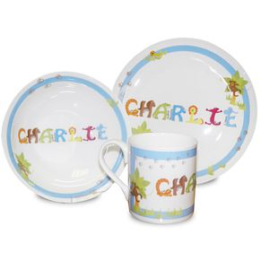 Personalised Blue Animal Name Breakfast Set - Product number 1445863