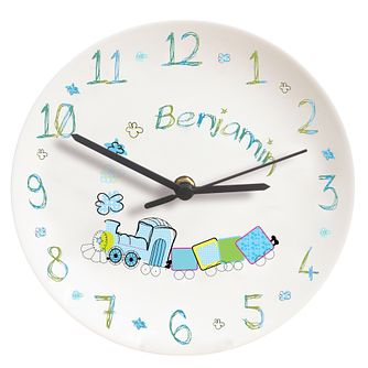 Personalised Patchwork Train Clock - Product number 1445928