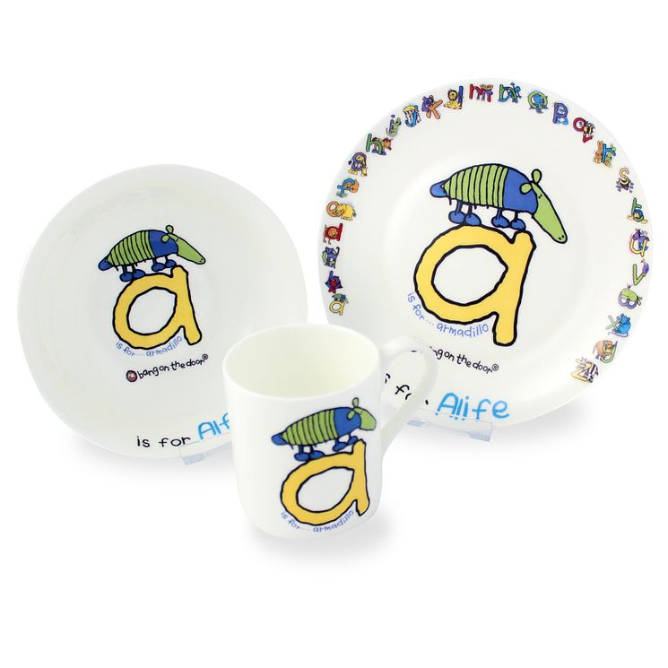 Personalised Bang On The Door Animal Alphabet Breakfast Set - Product number 1446037