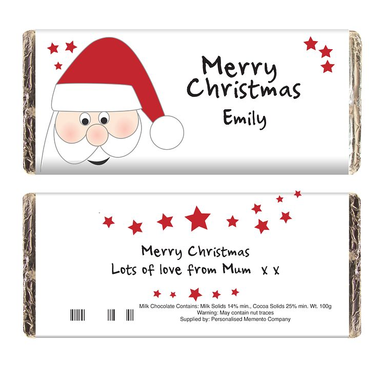 Personalised Santa Chocolate Bar - Product number 1446177