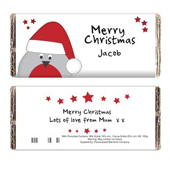 Personalised Robin Chocolate Bar - Product number 1446185