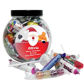Personalised Santa Round Sweet Jar - Product number 1446266