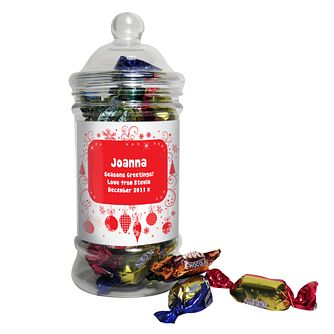 Personalised Christmas Toffee Jar - Product number 1446274