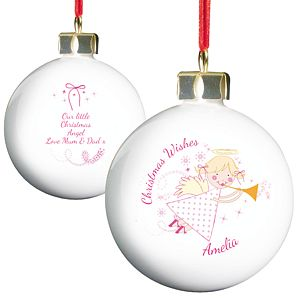 Personalised Angel Bauble - Product number 1446290
