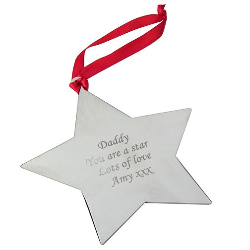Engraved Star Tree Decoration - Product number 1446312