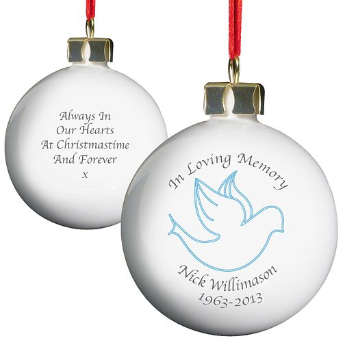 Personalised In Loving Memory Blue Bauble - Product number 1446428