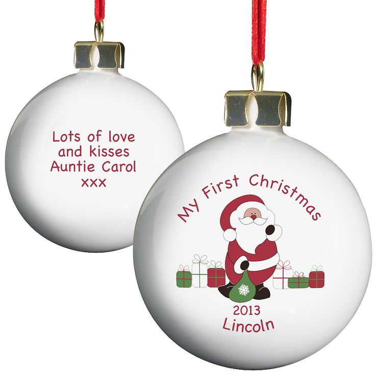 Personalised Santa with Presents Bauble - Product number 1446444