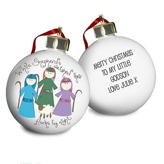 Personalised Nativity Shepherds Bauble - Product number 1446630