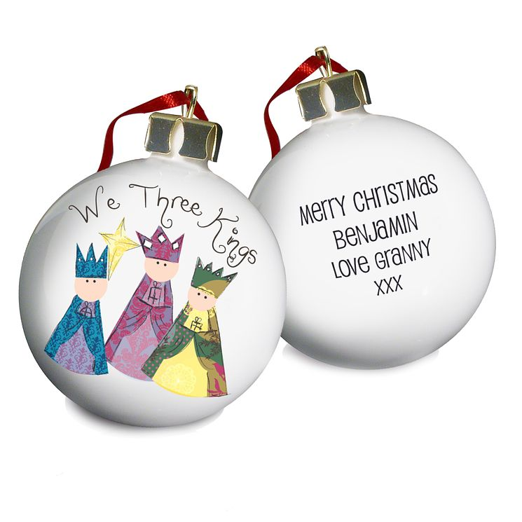 Personalised Nativity 3 Kings Bauble - Product number 1446665