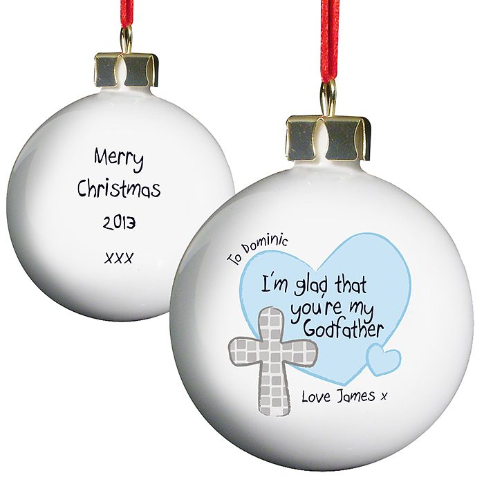 Personalised Godfather Bauble - Product number 1446703