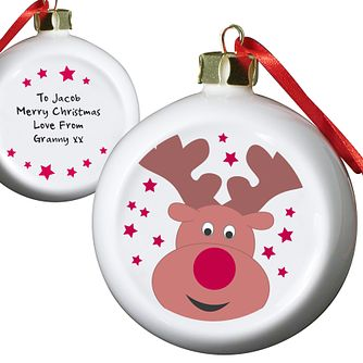 Personalised Reindeer Tree Decoration - Product number 1446797