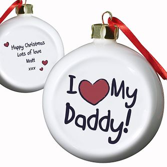 Personalised I Heart My Flat Faced Bauble - Product number 1446827