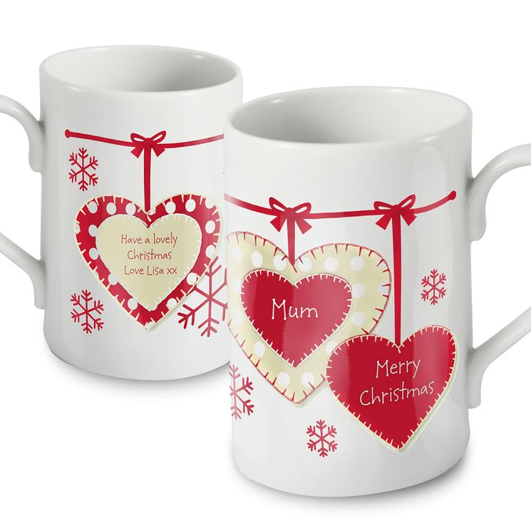 Personalised Christmas Heart Mug - Product number 1446924