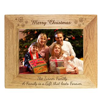 Personalised Merry Christmas Santa Photograph Frame - Product number 1447335