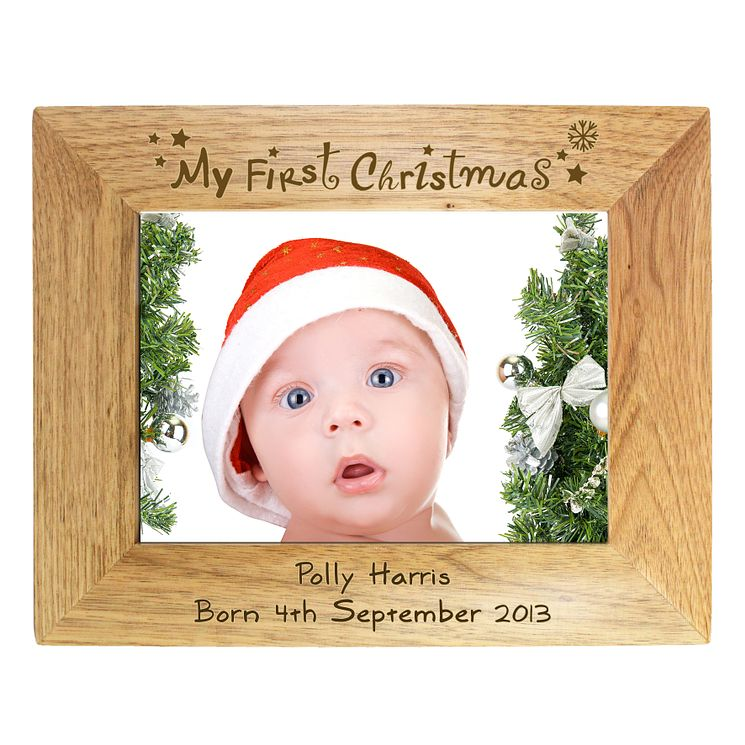Personalised Merry Christmas Holly Frame - Product number 1447343