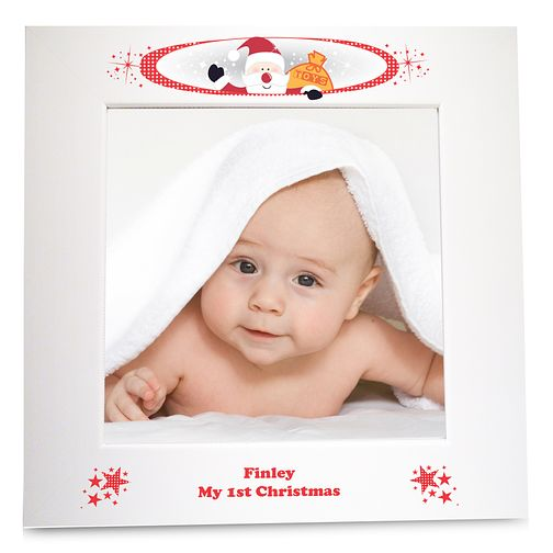 Personalised Christmas White 6x6 Frame - Product number 1447416