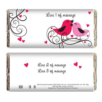 Personalised Love Birds Chocolate Bar - Product number 1447475