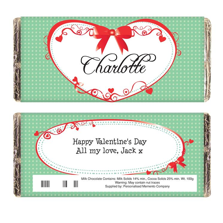 Personalised Red Ribbon Chocolate Bar - Product number 1447580