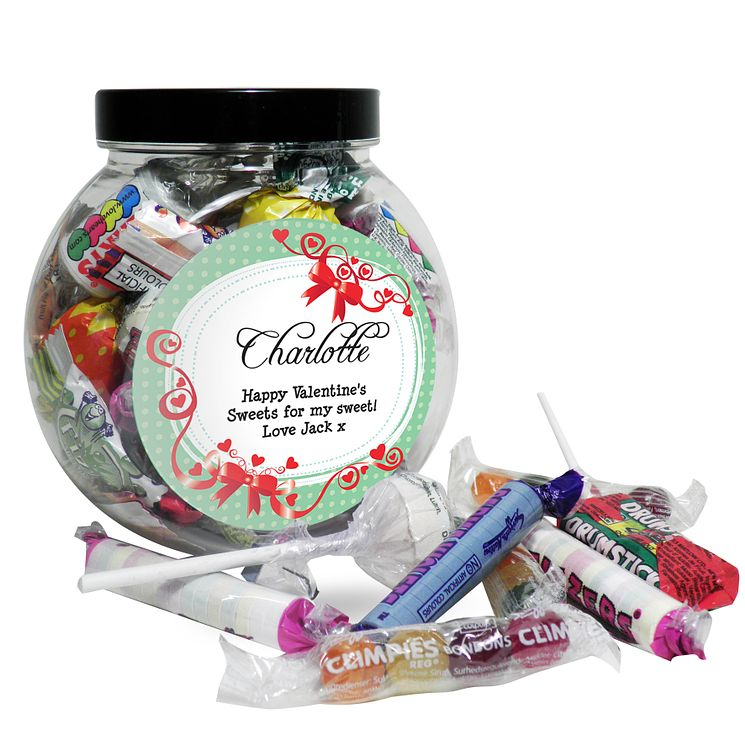 Personalised Red Ribbon Sweet Jar - Product number 1447750