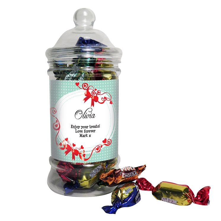 Personalised Red Ribbon Toffee Jar - Product number 1447777