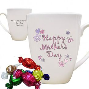 Personalised Flowers And Butterflies Happy Mothers Day Mug - Product number 1447963